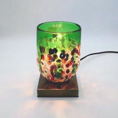ベネチアングラステーブルランプ 034-fantasy-goto-green