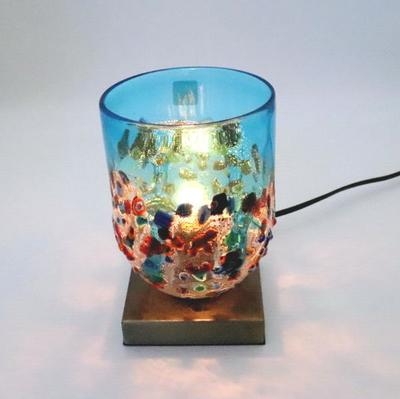ベネチアングラステーブルランプ 034-fantasy-goto-lightblue