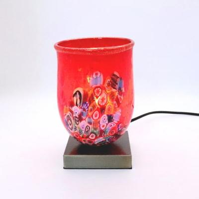 ベネチアングラステーブルランプ 034-goti-p-goto-red