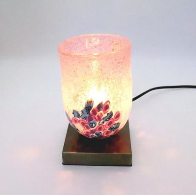 ベネチアングラステーブルランプ 034-goti-p-goto-pink