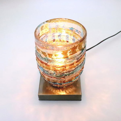 ベネチアングラステーブルランプ 034-sbruffo-amethyst-lightblue-amber