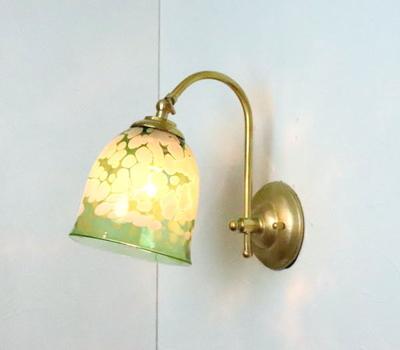 no17 Azzurro Glass Studioブラケットランプ fc-w208-bell-emerald-ivory-no17