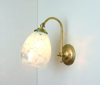 no3 Azzurro Glass Studioブラケットランプ fc-w208-frit-saradongreen-no3