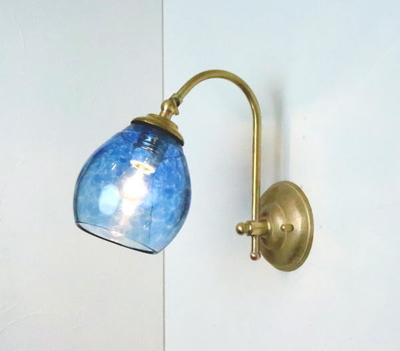 no10 Azzurro Glass Studioブラケットランプ fc-w208-frit-blue-no10