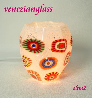ベネチアングラステーブルランプ eltm2