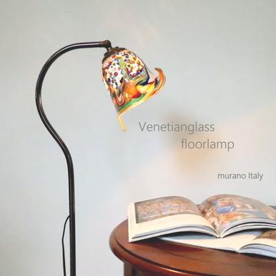 ベネチアングラスフロアライト fc-580a-fantasy-calla-series