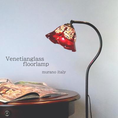 ベネチアングラスフロアライト fc-580a-fantasy-smerlate-series