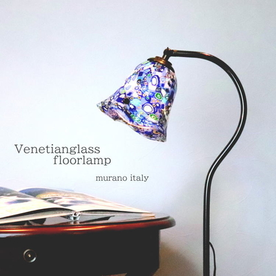 ベネチアングラスフロアライト fc-580a-murrine-series