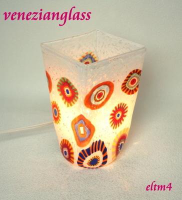 ベネチアングラステーブルランプ eltm4