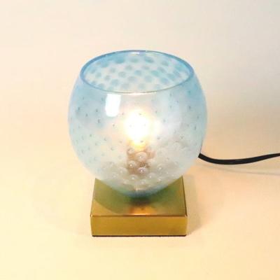 no7・Azzurro Glass Studioテーブルライト 034-dot-aqua-blue-no7