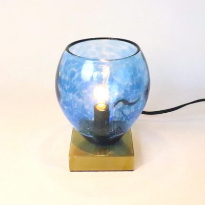 no10・Azzurro Glass Studioテーブルライト 034-frit-blue-no10