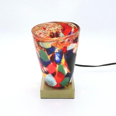 ベネチアングラステーブルランプ 034-monet-multi-a