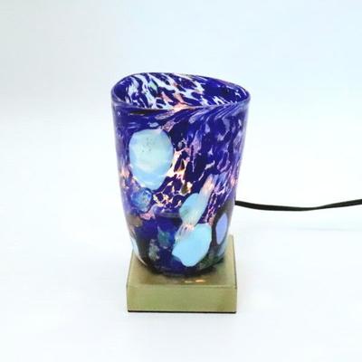 ベネチアングラステーブルランプ 034-monet-blue