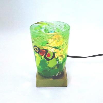ベネチアングラステーブルランプ 034-monet-green