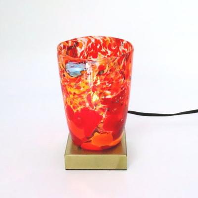 ベネチアングラステーブルランプ 034-monet-orange