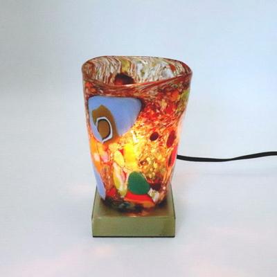 ベネチアングラステーブルランプ 034-monet-multi-b