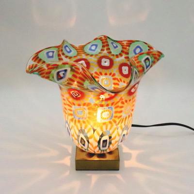 ベネチアングラステーブルランプ 034-elsmk1i