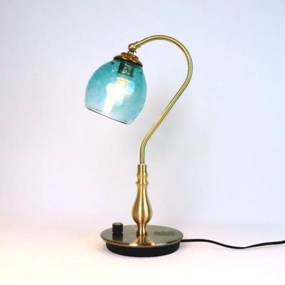 no9・Azzurro Glass Studioテーブルライト fc-210g-frit-tourmaline-no9
