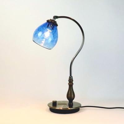 no10・Azzurro Glass Studioテーブルライト fc-570a-frit-blue-no10