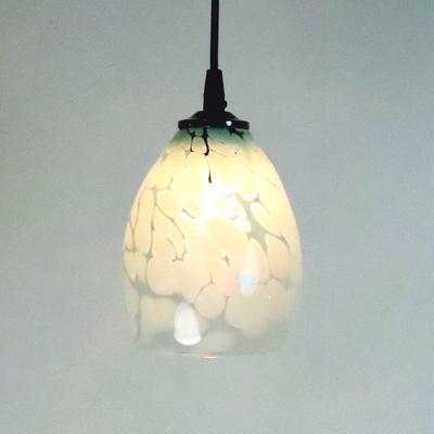 no3  Azzurro Glass Studioペンダントランプ frit-saradongreen-no3