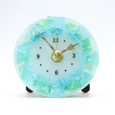 ベネチアングラス置時計 品番.pelt01-90t