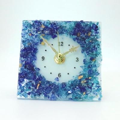 ベネチアングラス置時計 品番.pelt01-86-q