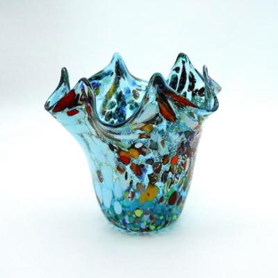 花瓶・flower base diec8lightblue-B