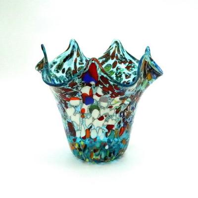 花瓶・flower base diec8lightblue-A