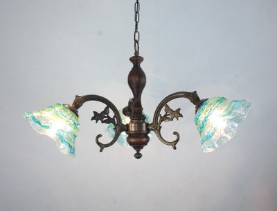 ベネチアングラスシャンデリア  fc-621-smerlate-sbruffo-lightblue-green