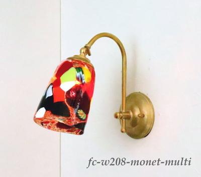 ベネチアングラスブラケットランプ fc-w208-monet-multi