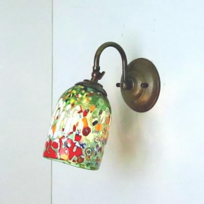 ベネチアングラスブラケットランプ fc-w004-silver-goto-green