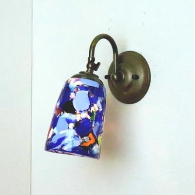 ベネチアングラスブラケットランプ fc-w004-monet-blue