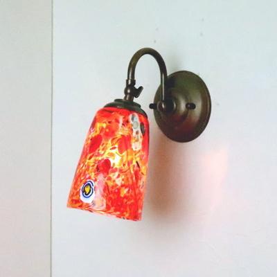 ベネチアングラスブラケットランプ fc-w004-monet-orange