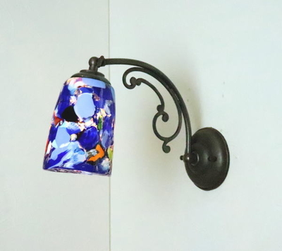 ベネチアングラスブラケットランプ fc-w10ay-monet-blue