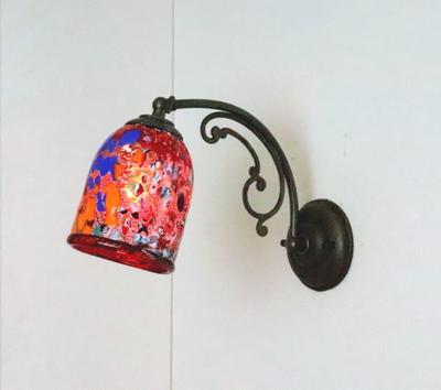 ベネチアングラスブラケットランプ fc-w10ay-silver-goto-red