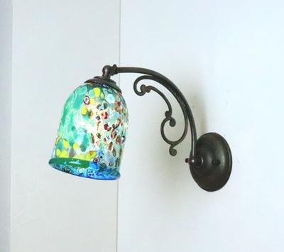 ベネチアングラスブラケットランプ fc-w10ay-silver-goto-lightblue