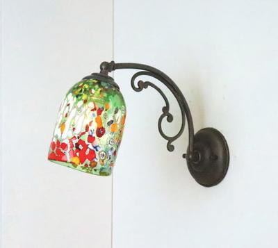 ベネチアングラスブラケットランプ fc-w10ay-silver-goto-green