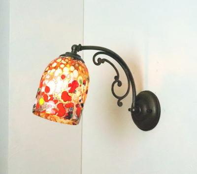 ベネチアングラスブラケットランプ fc-w10ay-silver-goto-amber