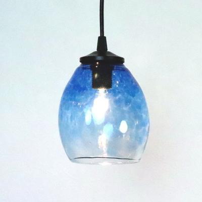 no10  Azzurro Glass Studioペンダントランプ frit-blue-no10