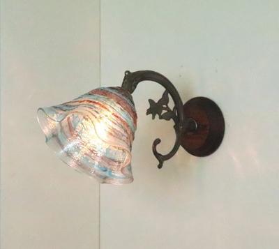 ベネチアングラスブラケットランプ fc-ww621-smerlate-sbruffo-amethyst-lightblue