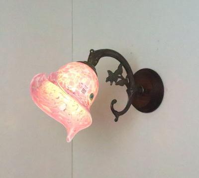 ベネチアングラスブラケットランプ fc-ww621-calla-pasta2-white-pink