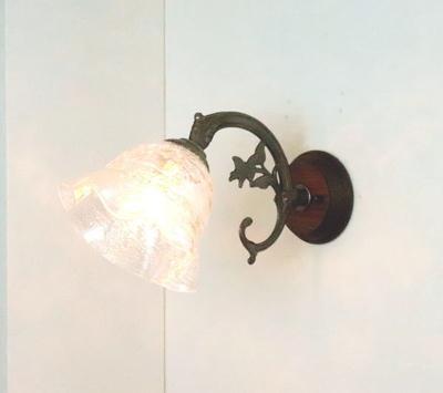ベネチアングラスブラケットランプ fc-ww621-smerlate-sbruffo-clear