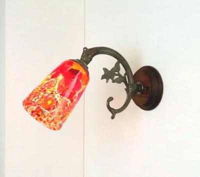 ベネチアングラスブラケットランプ fc-ww621-monet-orange