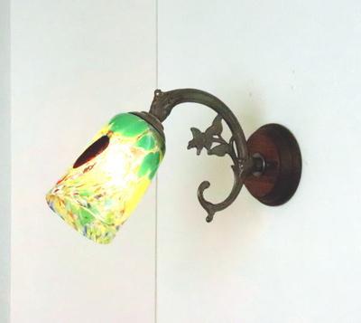ベネチアングラスブラケットランプ fc-ww621-monet-green