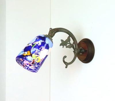 ベネチアングラスブラケットランプ fc-ww621-monet-blue
