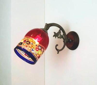 ベネチアングラスブラケットランプ fc-ww621-dm138red