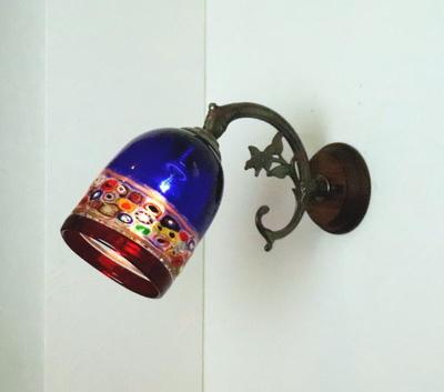 ベネチアングラスブラケットランプ fc-ww621-dm138blue