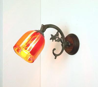 ベネチアングラスブラケットランプ fc-ww621-dm42or