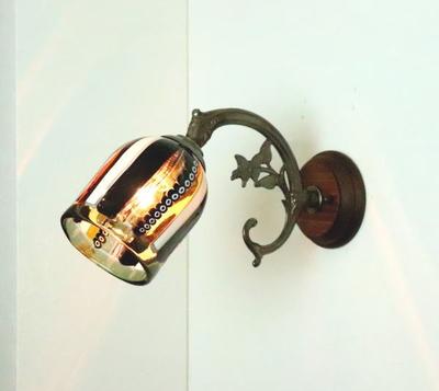 ベネチアングラスブラケットランプ fc-ww621-dm42brown-s
