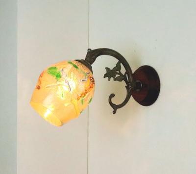 ベネチアングラスブラケットランプ fc-ww621-muzz-no4b